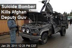 Suicide Bomber Kills Afghan Deputy Guv