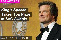 King's Speech Takes Top Prize at SAG Awards