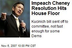 Impeach Cheney Resolution Hits House Floor