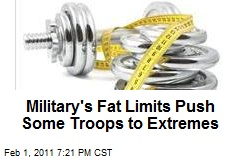 Military's Fat Limits Push Some Troops to Extremes