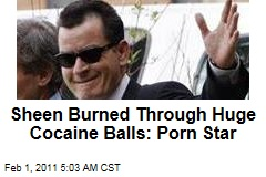 Sheen Burned Through Huge Cocaine Balls: Porn Star