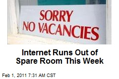 Internet Runs Out of Spare Room This Week