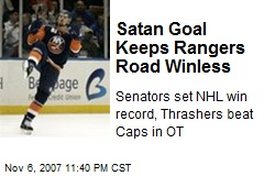 Satan Goal Keeps Rangers Road Winless
