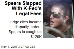 Spears Slapped With K-Fed's Legal Fees