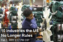 Industries In Which The US Is No Longer Number 1
