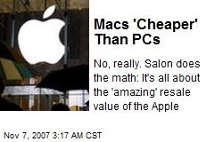 Macs 'Cheaper' Than PCs