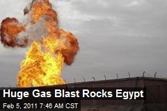 Huge Gas Blast Rocks Egypt