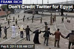 Don't Credit Twitter for Egypt