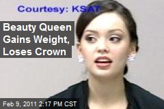 Beauty Queen Gains Weight, Loses Crown