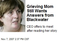 Grieving Mom Still Wants Answers from Blackwater