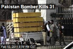 Pakistan Bomber Kills 31