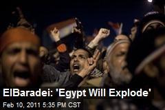 ElBaradei: 'Egypt Will Explode'