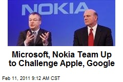Microsoft, Nokia Team Up to Challenge Apple, Google