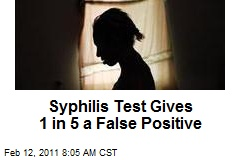Syphilis Test Gives 1 in 5 a False Positive