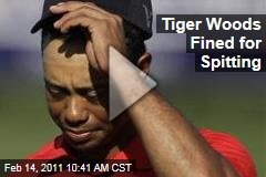 Tiger Woods Fined for Spitting
