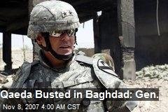 Qaeda Busted in Baghdad: Gen.