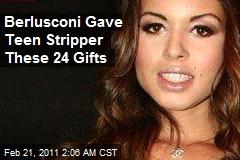 Berlusconi Gave $300K in Gifts to Teen Stripper