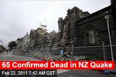 Christchurch Earthquake Death Toll Hits 65