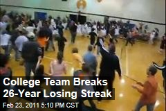 College b-ball team breaks 26-year losing streak