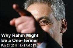 Rahm Emanuel Might Be a One-Term Chicago Mayor, Thanks to Challenges Facing the City