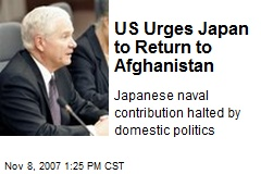 US Urges Japan to Return to Afghanistan