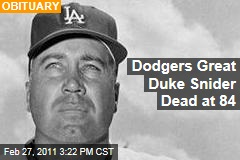 Duke Snider Obituary: Legendary Dodger Dies at 84