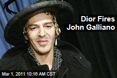 Christian Dior Fires Fashion Designer John Galliano After Allegations of Anti-Semitism, Anti-Semitic Remarks on Video