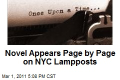 Novel Appears Page by Page on NYC Lampposts