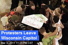 Protesters Leave Wisconsin Capitol