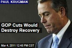 Paul Krugman: GOP Budget Cuts Would Destroy Recovery