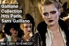 John Galliano Collection Shown in Paris, Sans John Galliano