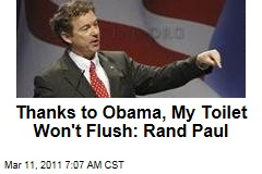 Rand Paul: Thanks to Obama, My Toilet Won't Flush