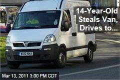 Boy, 14, Steals Church Van ... to Drive Himself to School