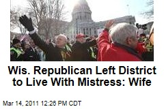 Wisconsin GOP Senator Randy Hopper Left District With Mistress: Wife