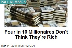 Four in 10 Millionaires Don't Think They're Rich
