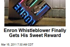 Enron Whistleblower Finally Gets His Sweet Reward: $1.1M From IRS