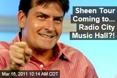 Charlie Sheen Live Show Tour Coming to ... Radio City Music Hall?!