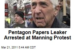 Daniel Ellsberg Busted at Manning Protest