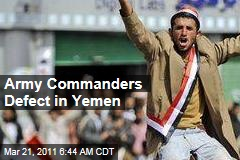 Yemen Commanders Defect from President Ali Abdullah Saleh as Tanks Enter Streets