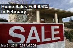 Housing Market: US Home Sales Fall 9.6%; Prices Fall to Lowest Level in 9 Years