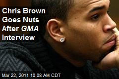 Chris Brown Goes Nuts After GMA Interview