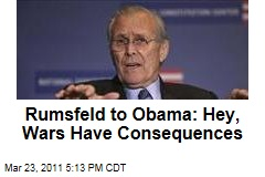 Donald Rumsfeld Criticizes President Obama for Unclear Goals on Libya Mission
