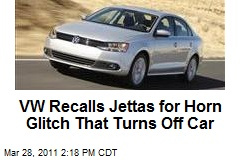 VW Recalls Jettas for Horn Glitch That Turns Off Car