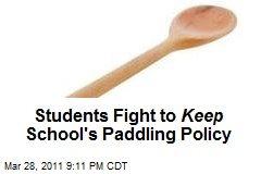 Students Fight to Keep School's Paddling Policy
