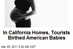 'Birth Tourism' Aims at US Citizenship for Newborns