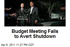 Budget Meeting Fails to Avert Shutdown