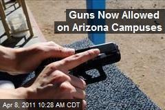 Guns Now Allowed on Arizona Campuses