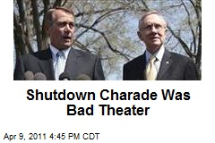 Shutdown Charade Was Bad Theater