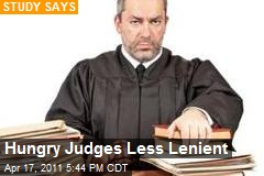 Hungry Judges Less Lenient