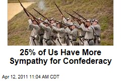 25% of Us Have More Sympathy for Confederacy Than Union